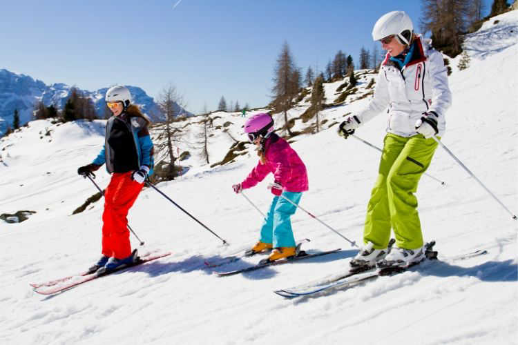 Family ski trip-Multigenerational Vacations