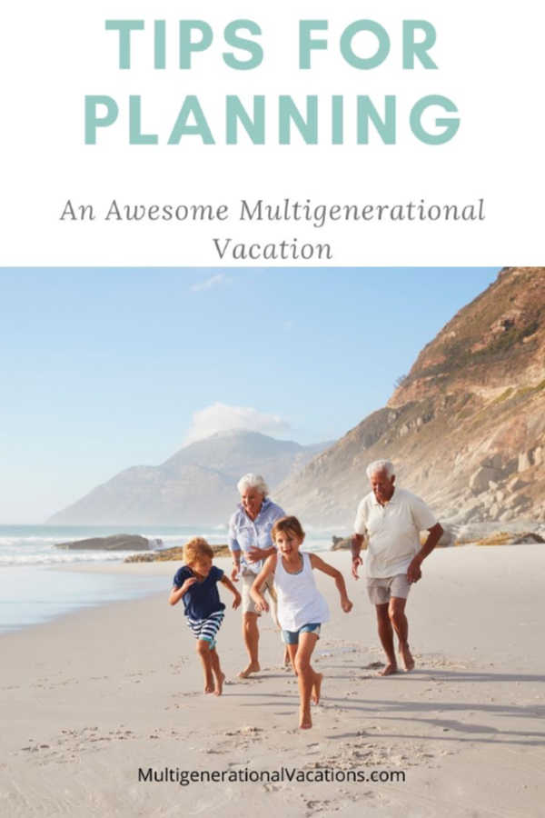 Perfect Trip with Grandparents running on beach-Multigenerational Vacations