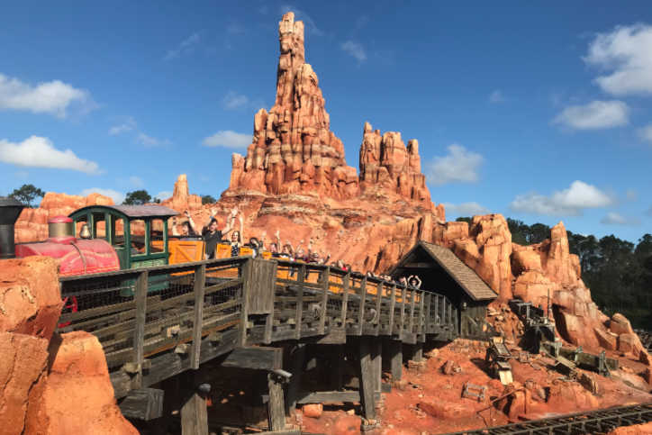 Thunder Mountain ride Disney World Florida-Kids Are A Trip