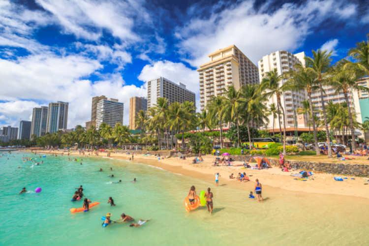 Waikiki Beach Hawaii with grandparents-Multigenerational Vacations