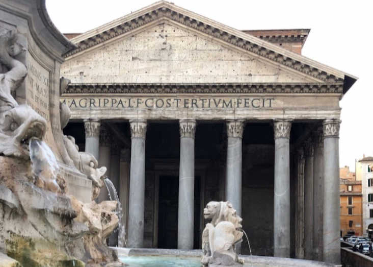 Pantheon Rome with grandparents Laroye