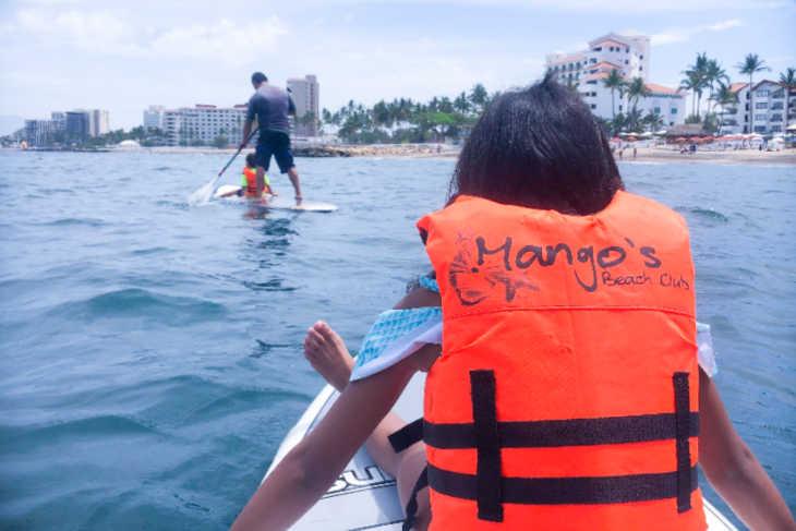 Paddle boarding in Puerto Vallarta-Multignerational Vacations