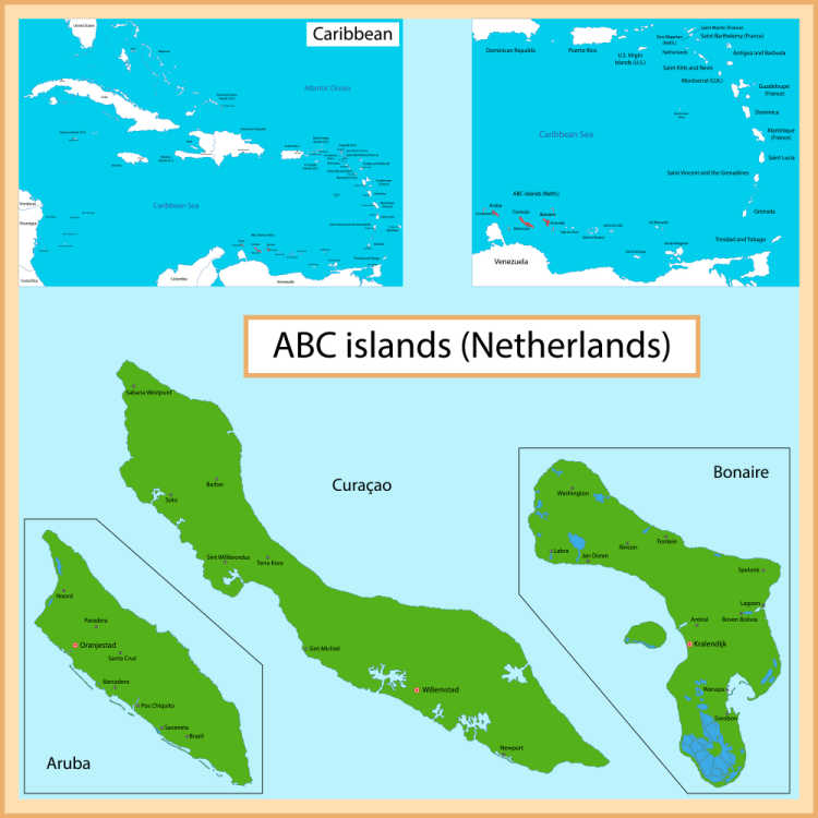 Map of Bonaire-Multigenerational Vacations