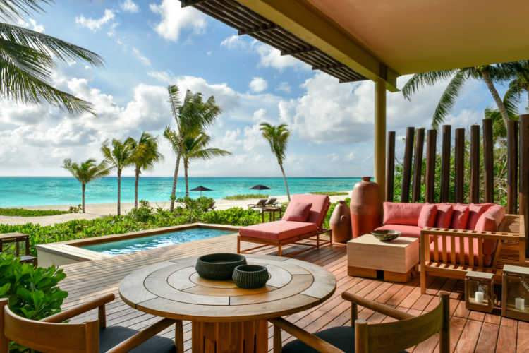 Beachfront_Studio_Suite_Terrace Rosewood Mayakoba-Multigenerational Vacations