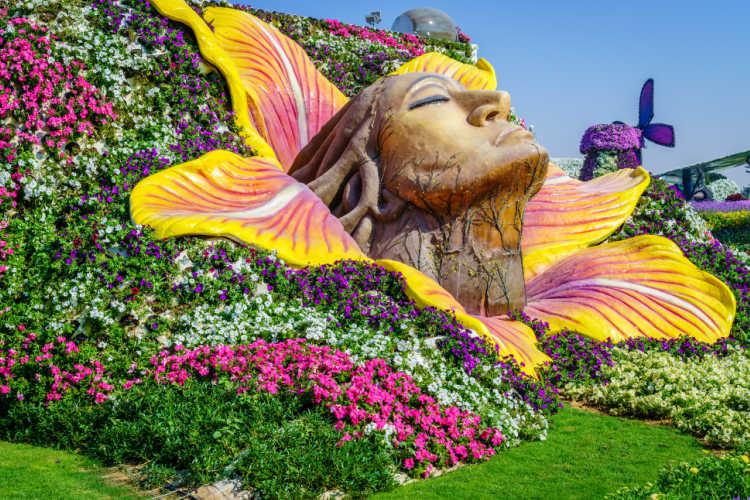 Family trip to Dubai Miracle Garden