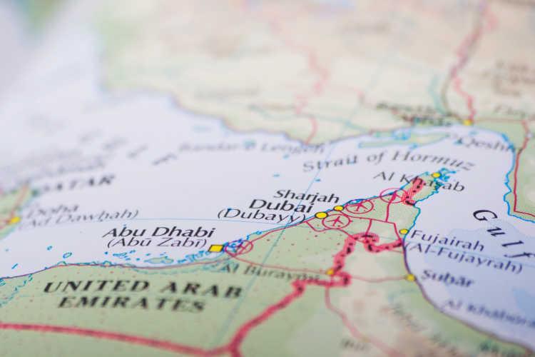 Map of Dubai-Multigenerational Vacations