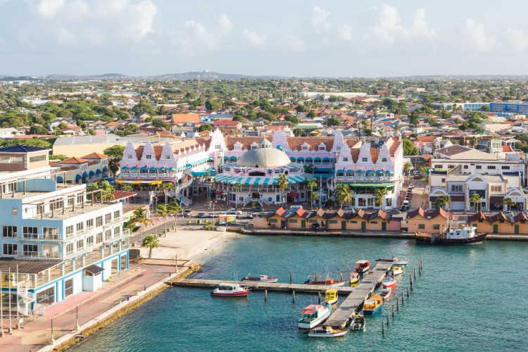 Aerial view Oranjestad Aruba