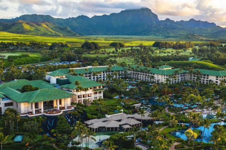 Grand Hyatt Kauai aerial