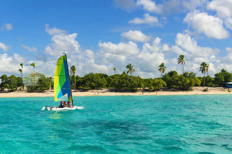Sailing in St Kitts