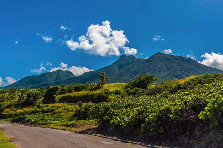 St Kitts mountain view
