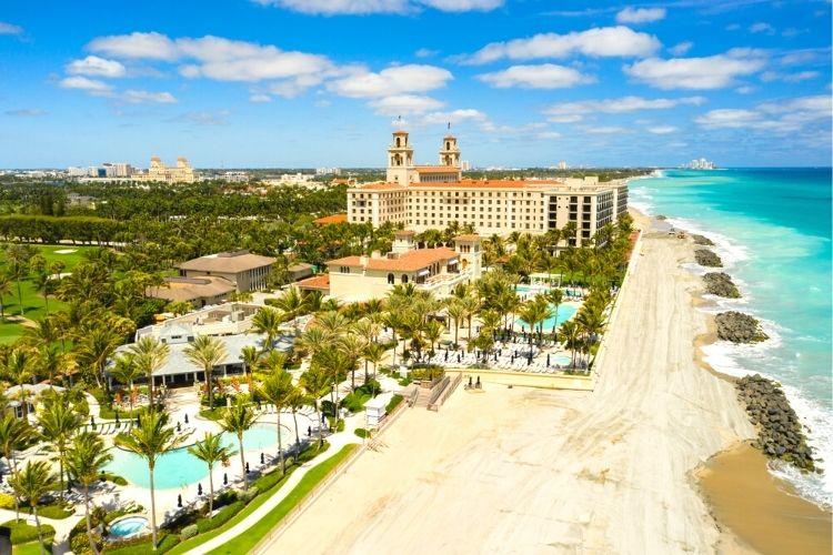 View of The Breakers Palm Beach resort-Multigenerational Vacations