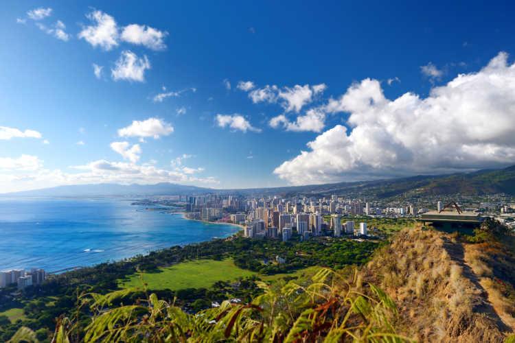 View of Honolulu Hawaii