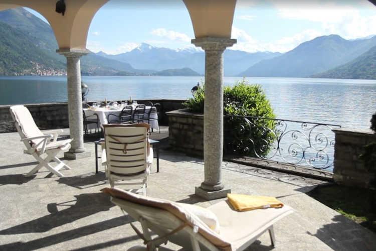 Villa with view of Lake Como Italy