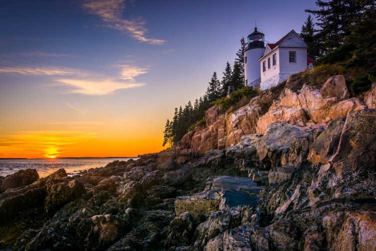 Acadia lighthouse Maine
