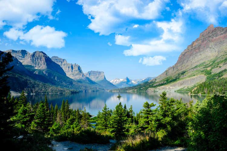 Glacier National Park Lake Mountain