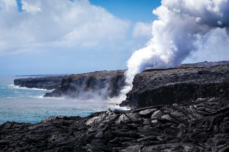 Hawaii Volcanoes Ocean