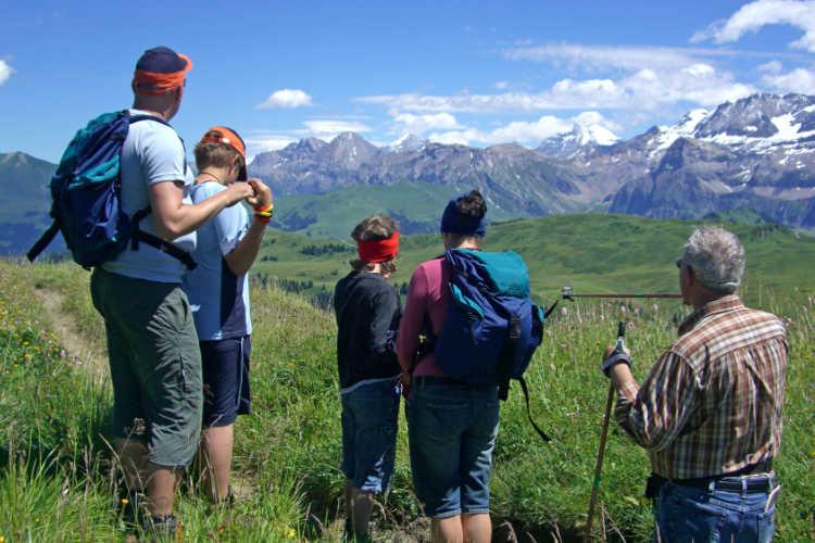 Switzerland hiking family